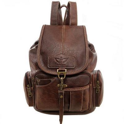 2df27d133f93 Женщин старинные Рюкзаки поездки пакет сумки высокого качества PU кожа  Rucksac рюкзак