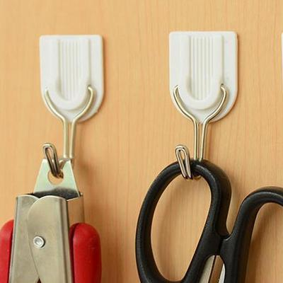 Sticky Hooks Strong Adhesive Wall Door Kitchen Bathroom Holder 6pcs