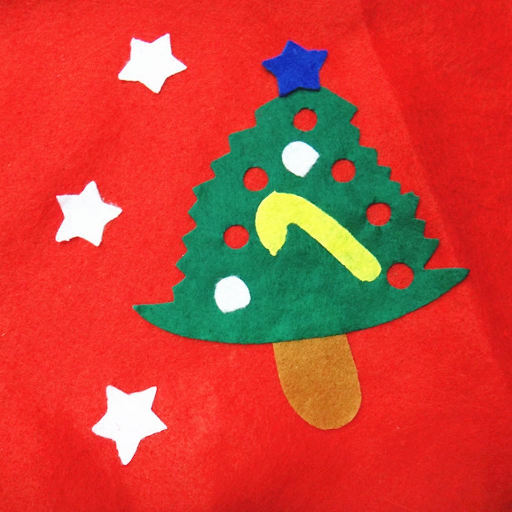 60cm Weihnachten Mini-Baum Rock Baum Sterne Muster Applikation ...