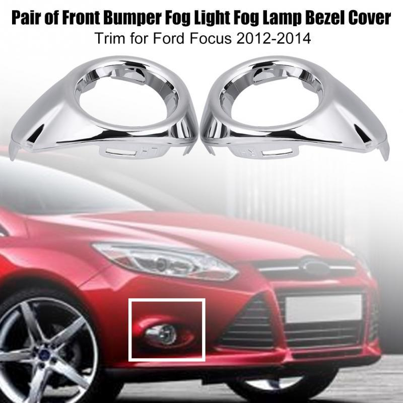 2pcs Rear Tail Fog light Lamp Cover Trim ABS Chromed for Ford Fusion 2013 2014 2015
