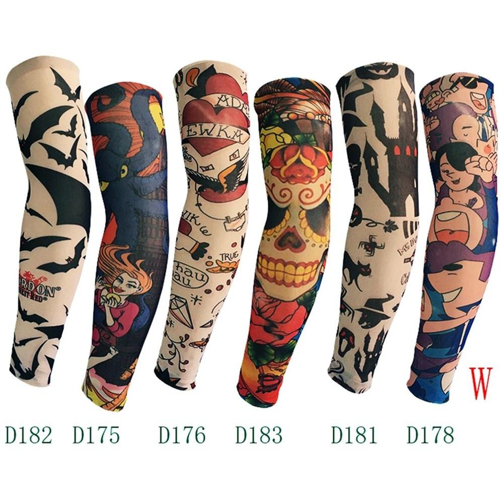 Temporary Tattoos Arm Warmer Skins Proteive Nylon Stretchy Fake Temporary Tattoo Sleeves Designs Body Arm Stockings Tatoos Cool Men Women Be Novel In Design