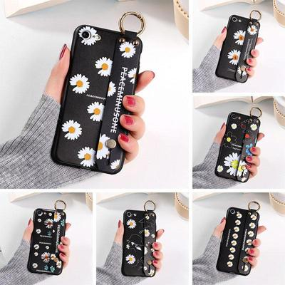 Soft Phone Cases For Samsung A01 A10 A11 M11 A 30 A50 A20s A30s A51 A20e Easy-to-carry Soft Black Case Painted Wristband Phone Case
