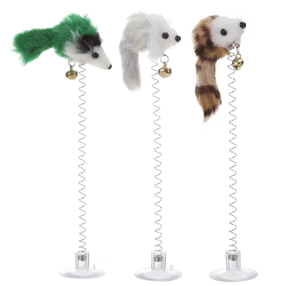 Kitty Pet / Интерактивная игрушка для кошек- мышка на присоске