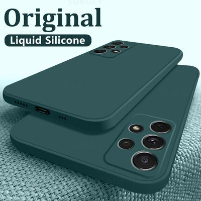 New Luxury Square Liquid Silicone Soft Case For Samsung Galaxy S21 S20 Nate 20 Ultra A32 A42 A52 A72 Note 10 Pro S8 S9 S10 Plus A51 A71 Phone Cover