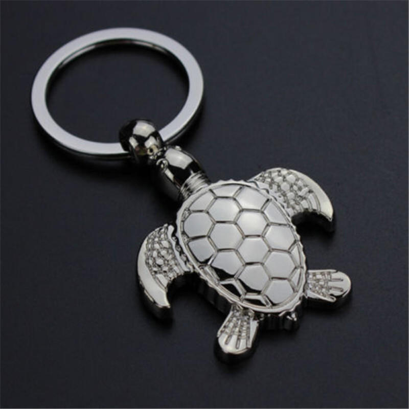 Creative Turtle Keychain LED Light Sound Key Ring Holder Bag Hanging Pendant New