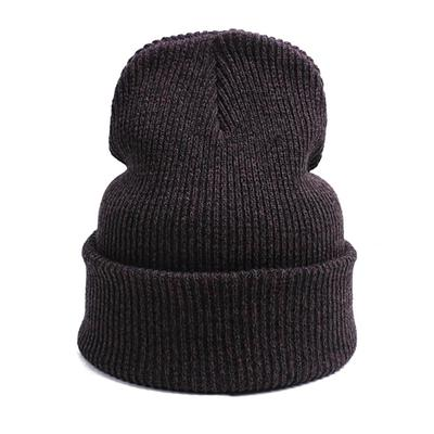 487a2e6f35f Hip-hop wool hat winter outdoor ski headgear fashion letter knitted cap