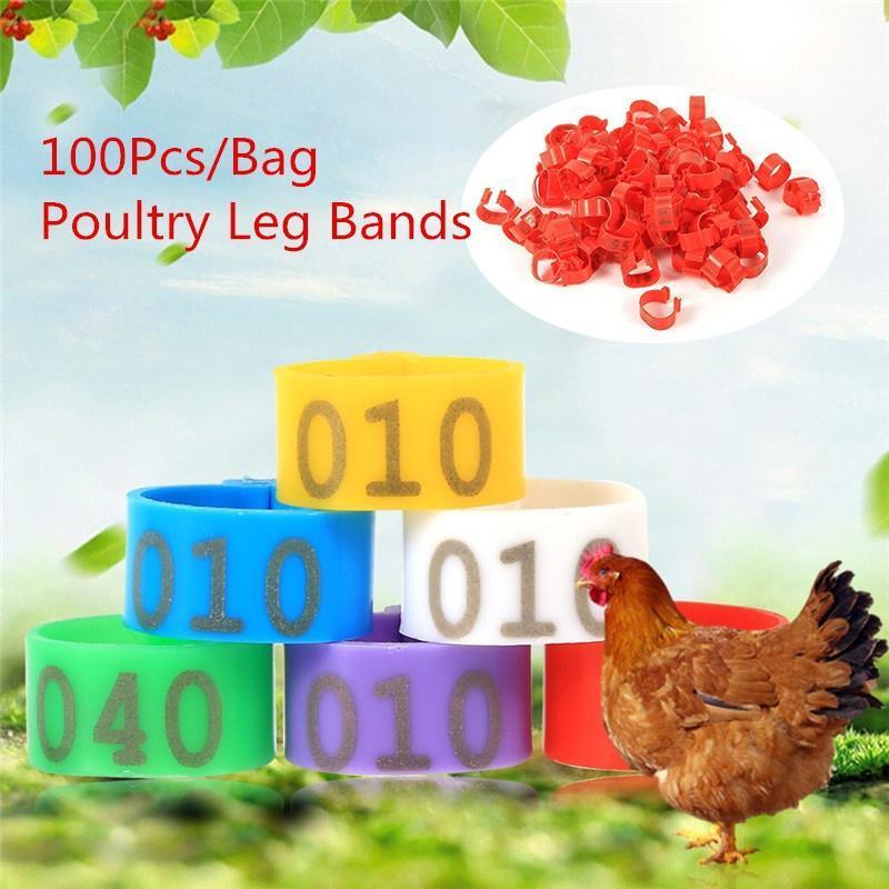 Poultry leg rings 6 100pcs/bag 16mm 001-100 number plastic chicken duck  goose leg band