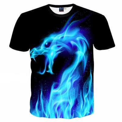 3D Wolf Print T-shirt Casual Funny Womens//Mens Short Sleeve Graphic Tee S-5XL