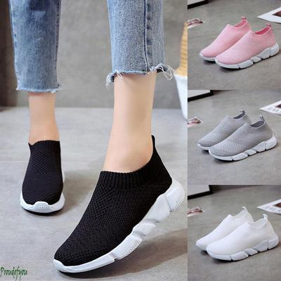 Homme Sport Baskets Casual Slip On Respirant Mocassins Mesh Hollow Out Shoes