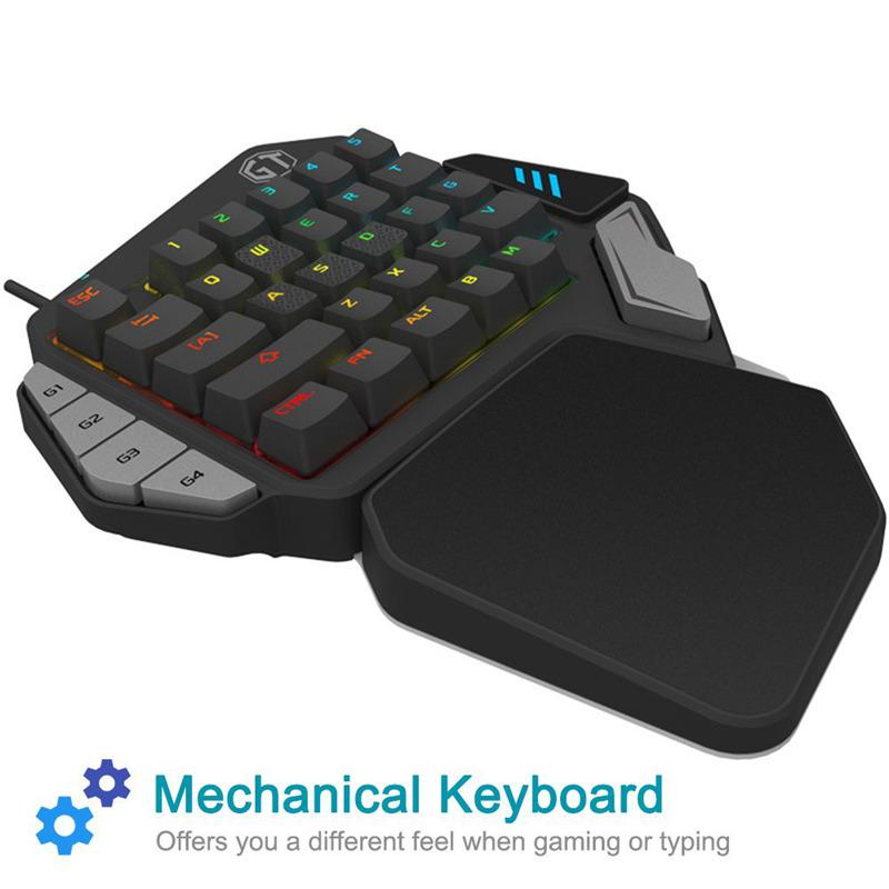 c0d3de1d27b Delux T9X Mechanical Keyboard USB Wired Single Hand Gaming Keyboard ...