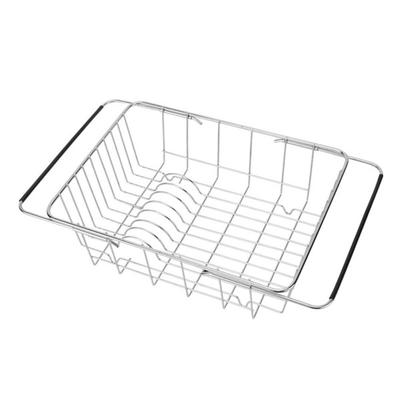 1 Pc Sink Drain Basket Expandable Dish Drying Rack Dish Drainer for Fruit  Dishes Vegetable Storage