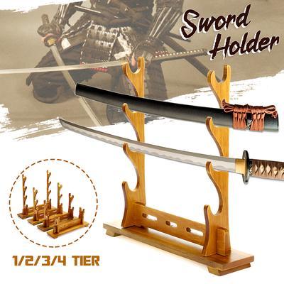 3 Layer Assembly Rack Display Samurai Sword Katana Wakizashi Tanto Holder Stand