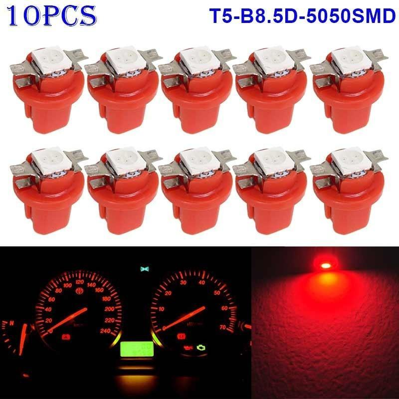 New T5 B8.5D 5050 1SMD LED Dashboard Dash Gauge Instrument Interior Light Bulbs