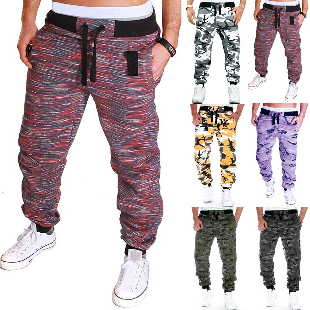 UK Men Cargo Combat Camouflage Trousers Jogger Slim Casual Bottoms Jogging Pants