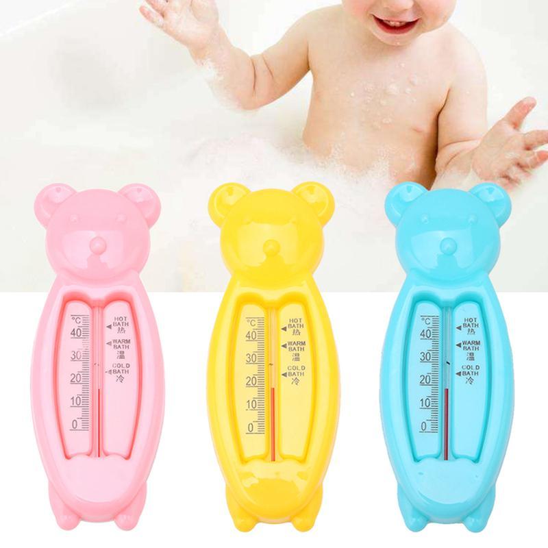Dibujos animados flotante oso beb/é term/ómetro de agua ba/ño para ni/ños ni/ños lindos juguetes de pl/ástico Tub Sensor de agua