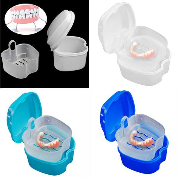 Протез Ванна хранения случае зубов зубы с висячими чистый контейнер фото