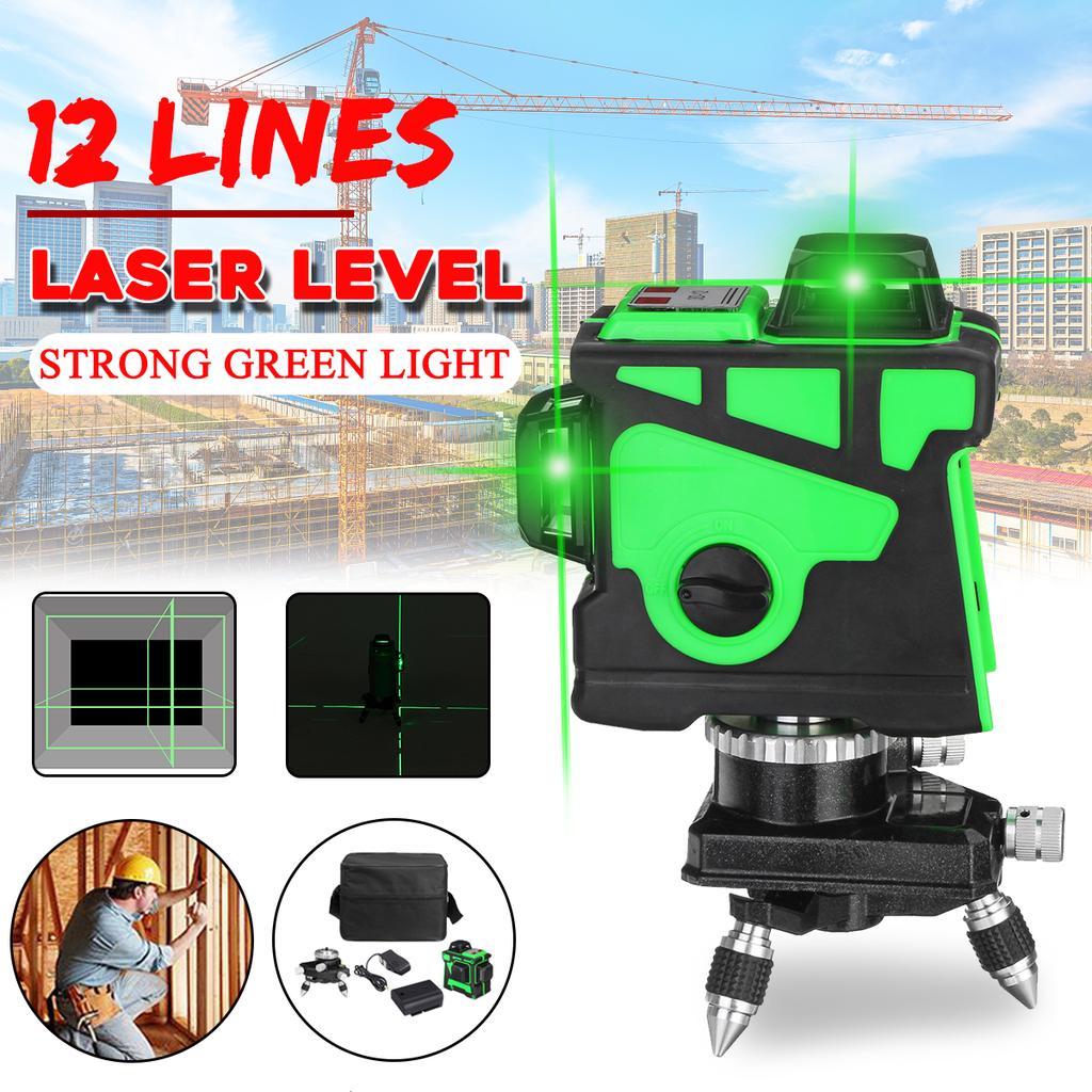 Laser Level 12 Lines 3d Self Leveling 360 Horizontal And Vertical Cross Super Green Laser Line Buy At A Low Prices On Joom E Commerce Platform