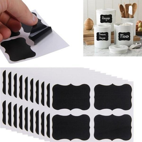 Blank Labeling Chalkboard Sticker Sealing Sticky Blackboard Label Decals