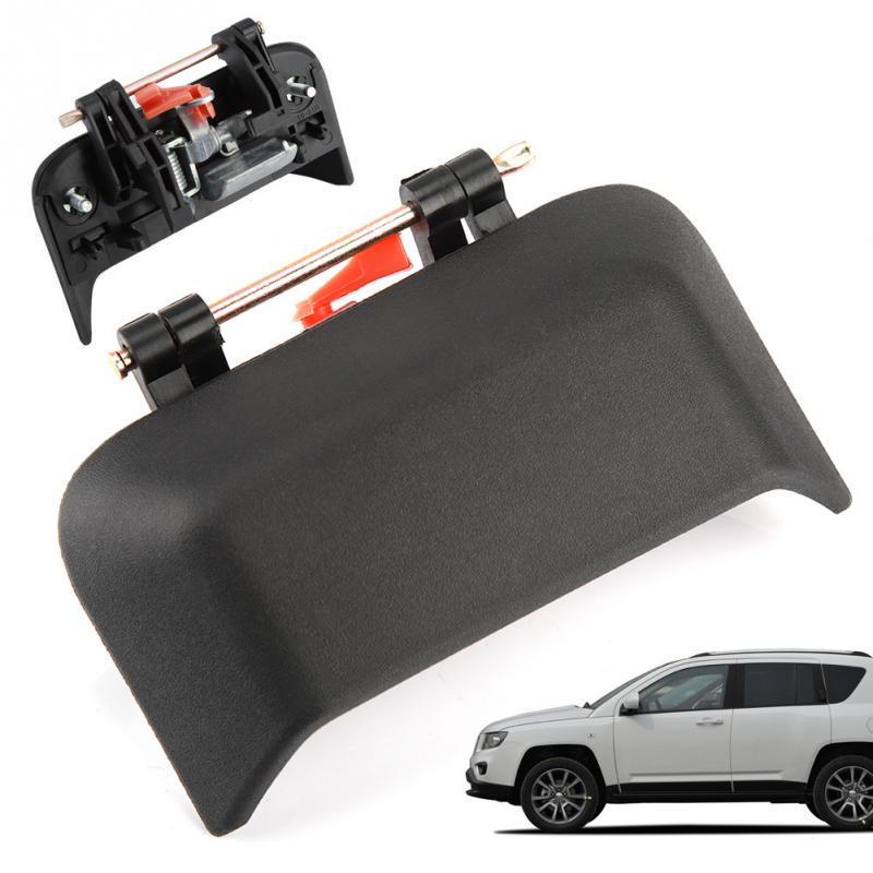 Passenger Side Rear Door Exterior Handle Black for 07-16 Jeep Compass