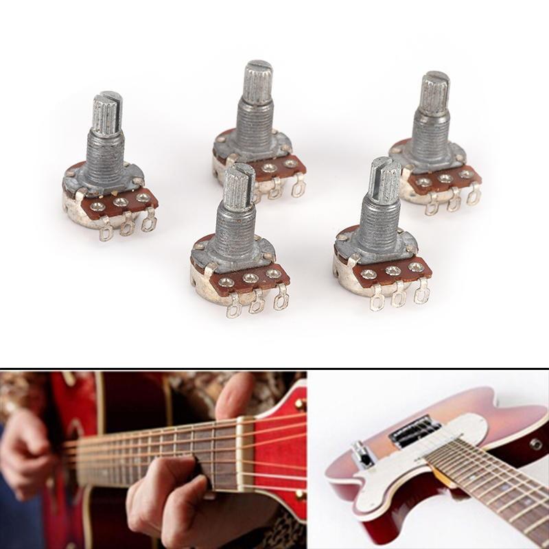 Gitarrenpotentiometer Audio POTS A500K B500K OHM Ersatz für E Gitarre 4er Pack