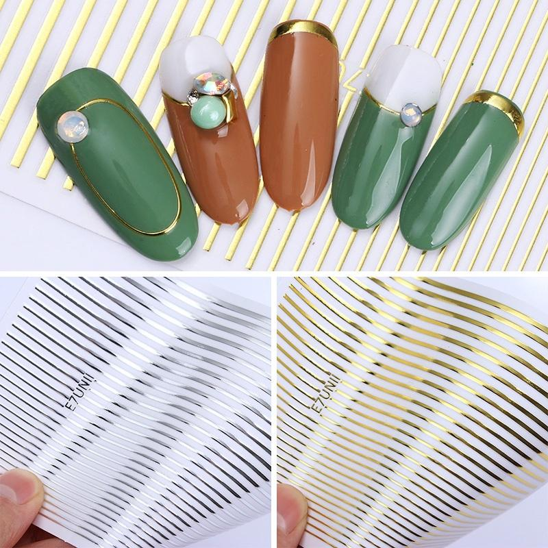 РОДИЛСЯ довольно 1 листового металла 3D ногтей наклейки линии мульти размер полосы клея передачи наклейки фото