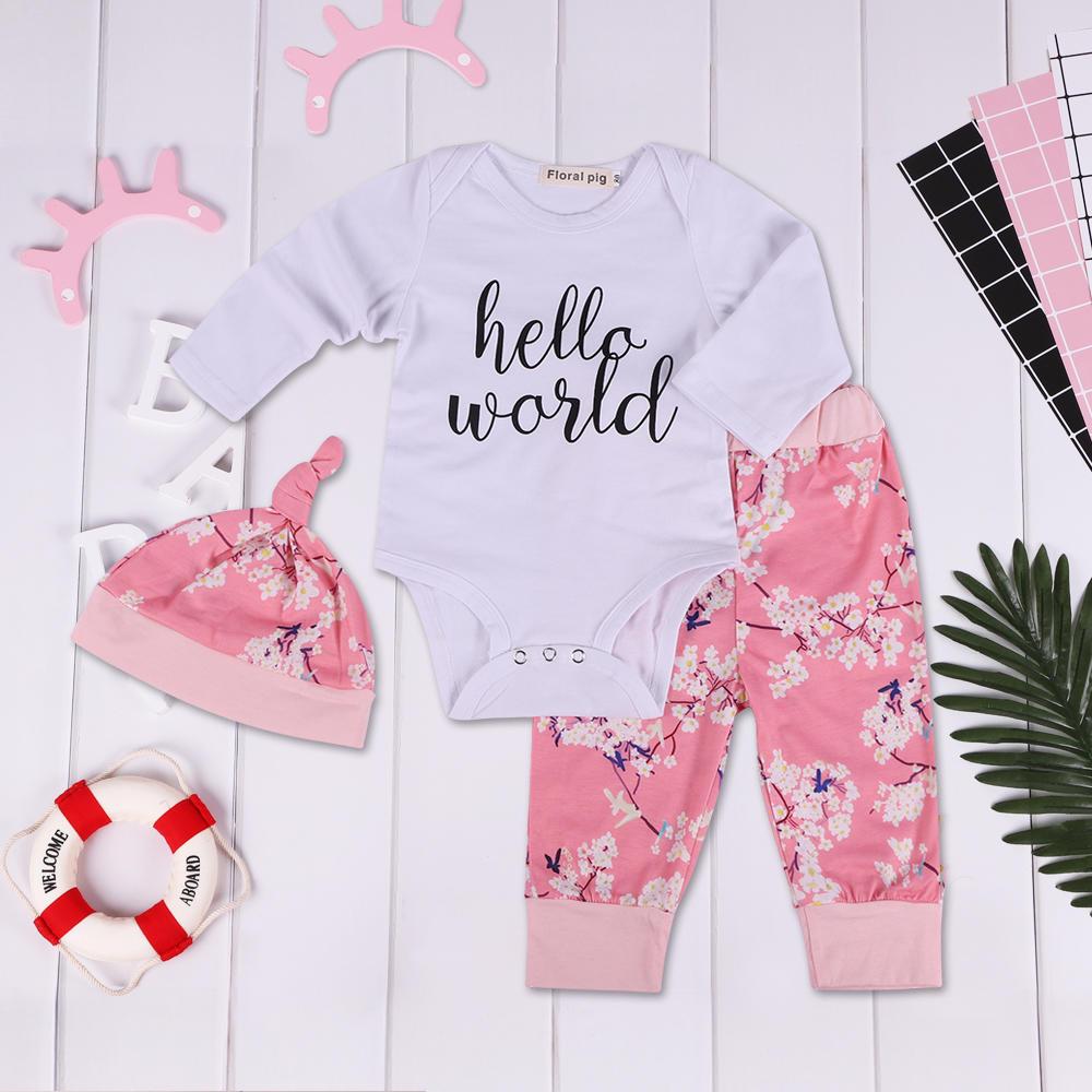 Niños recién nacidos niñas equipo impresión bebé Kids mameluco ...