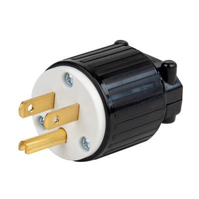 3-Pole 3-Wire NEMA L5-30P 125V 30 amp Industrial Twist Lock Male Plug Adapter