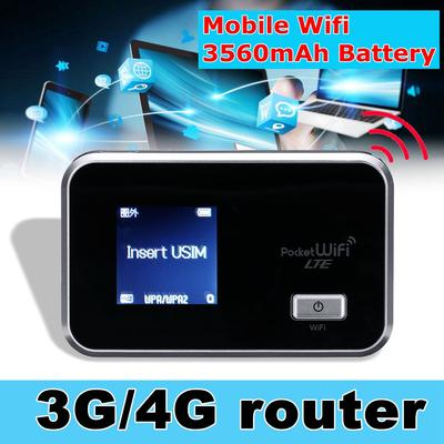 Portable 3G/4G Mobile Wifi MIFI Wireless Pocket- Hotspot Router Broadband  LCD Display USB