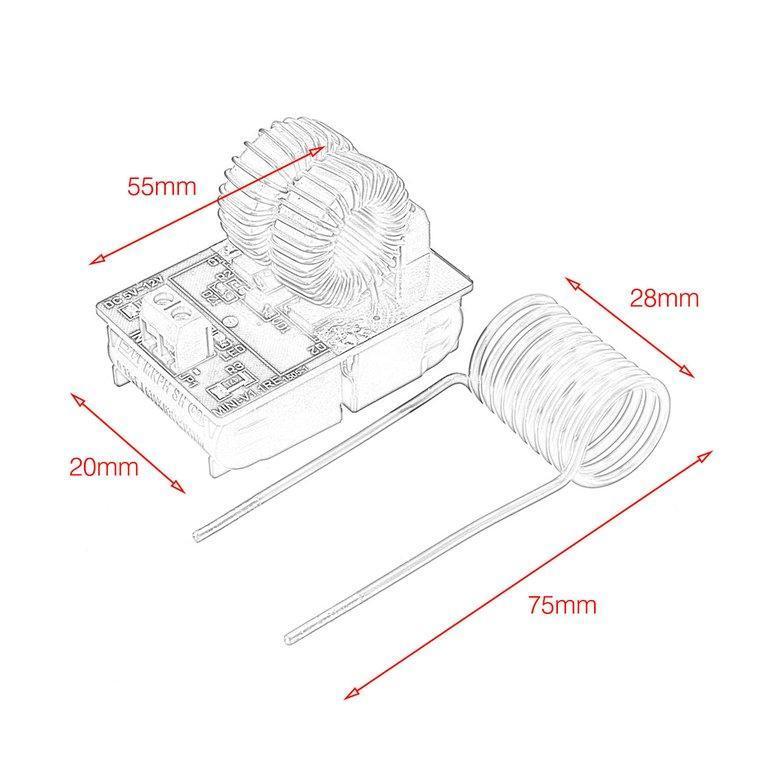 5V-12V ZVS Induktionserhitzer Heizung Stromversorgungsmodul mit Heizwendel Neu