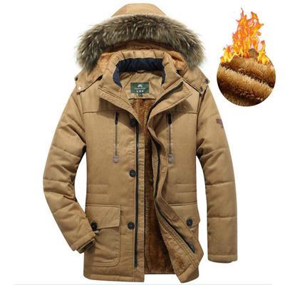 Mens Warm Cotton Coat Plus Size,Winter Hooded Zipper Button Down Jacket Thickened Windbreaker Mid Outwear M-6XL