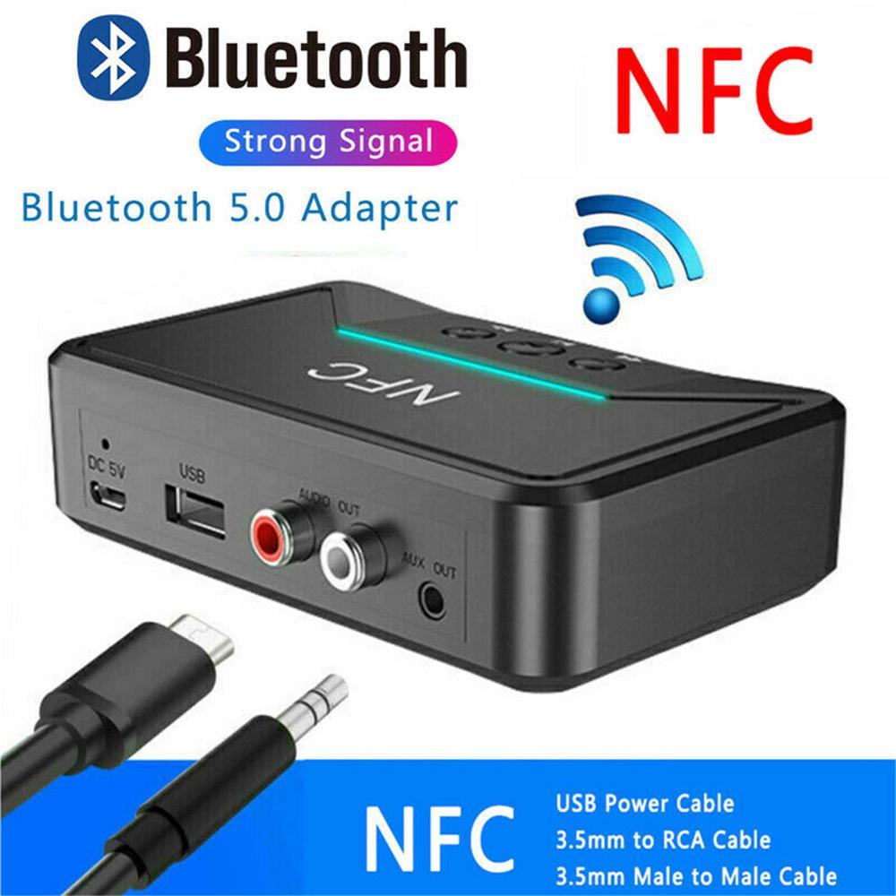 3.5mm Bluetooth Wireless NFC USB Stereo Audio Music RCA Speaker Receiver Adapter