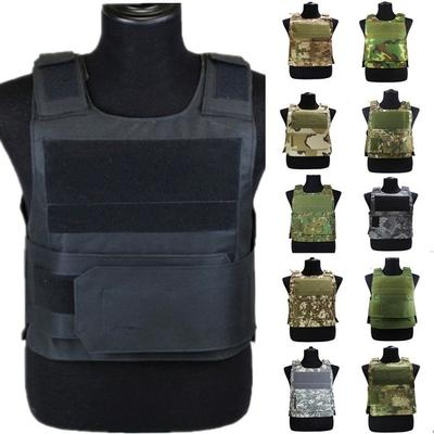Anti-Stab Proof Vest Armor Security Self-Defense Plate Carrier Real CS Equipments Black