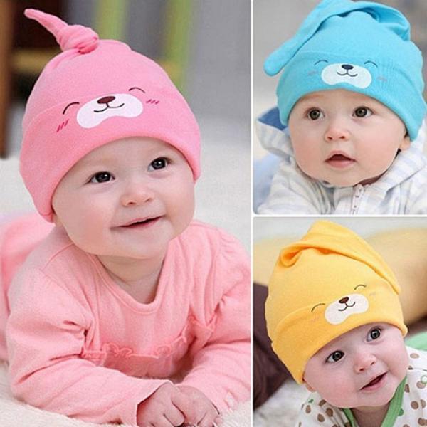 Baby Hospital Hat Baby Hat Newborn Girl Baby Summer Cotton Beanie Yellow Baby Photo Prop Newborn Knitted Baby Hat Yellow Summer Hat