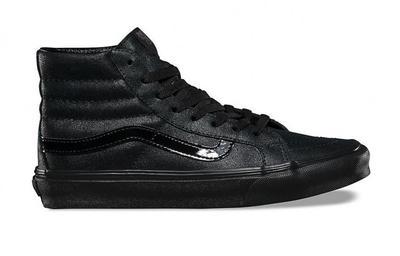Vans Women SK8 Hi Slim Patent Crackle (black black)