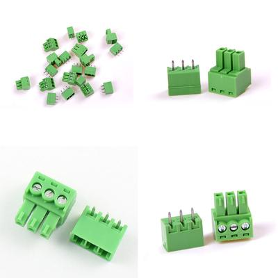 10Pcs KF-3P 3PIN Right Angle Plug-in Terminal Connector 3 81