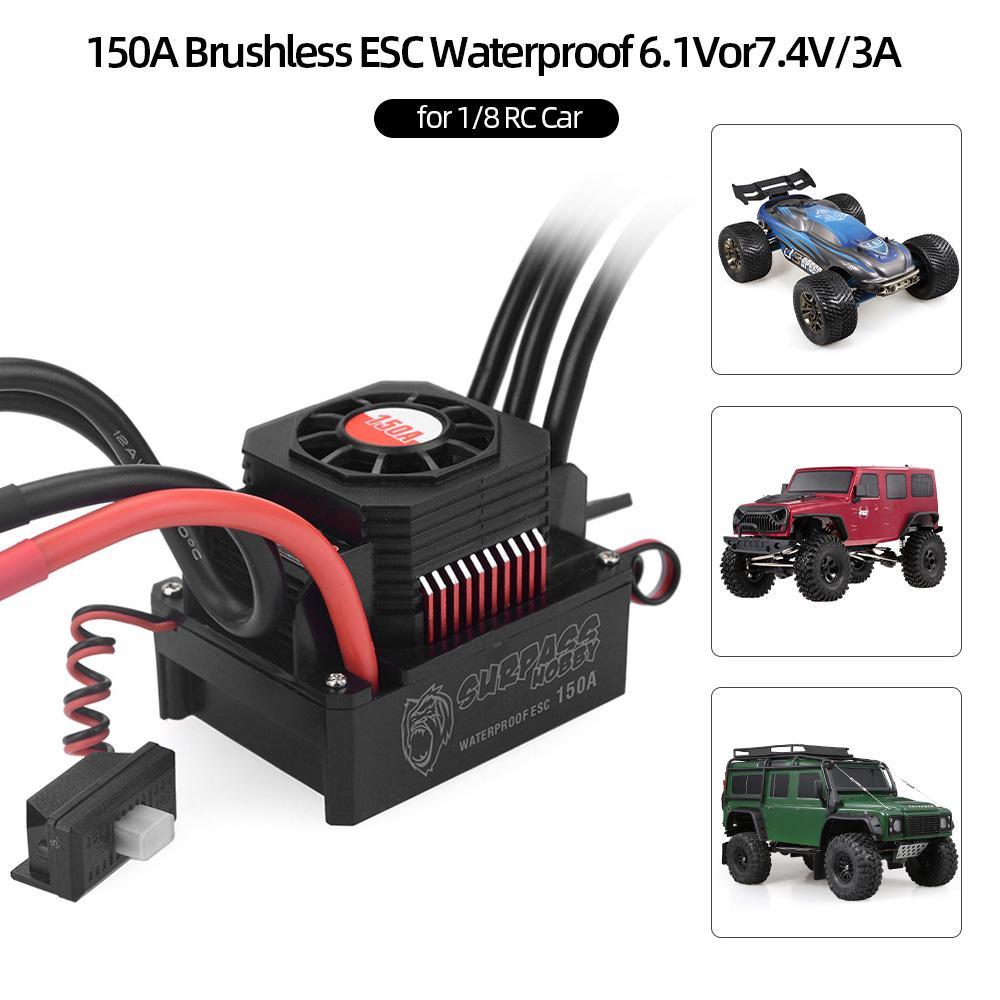HOBBYWING 50A BRUSHLESS ESC /& 3900Kv MOTOR COMBO 2-3S WATERPROOF 1//16 TRAXXAS RC