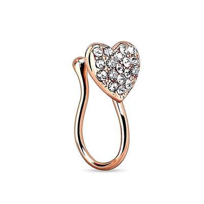 Girls Creative Stylish Fashion Heart Shaped Nose Ring Piercing