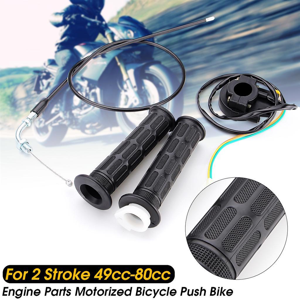 For 49cc 66cc 80cc Motorized Bicycle Throttle Control Handlebar Grip Kill Switch