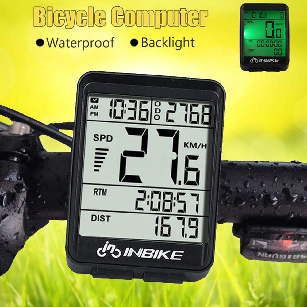 Portable Cycling//Bike Computer//Speedometer//Distance//Time//temperature Waterproof