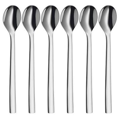 Set of 6 KitchenCraft Stainless Steel Red Polka Dot Patterned Tea Spoon Set