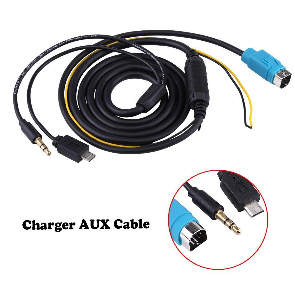 1pcs Music Interface Connector Charger Aux Cable Input Adapter For Iva W205 Wiring 1 Of 10