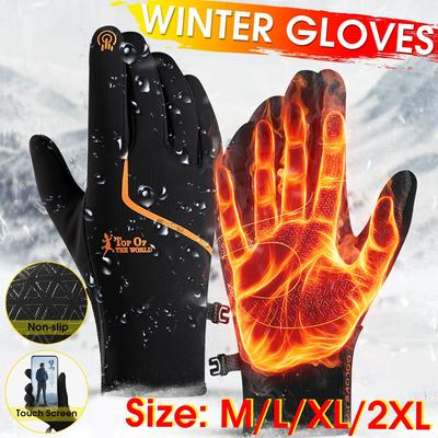 Waterproof Cycling Thermal Warm Anti Skid Full Finger Touch Screen Gloves