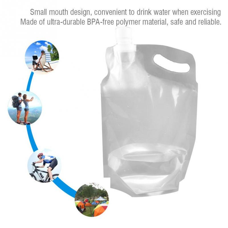 2L Portable Folding Water Storage Lifting Bag for Outdoor Camping Hiking Travel