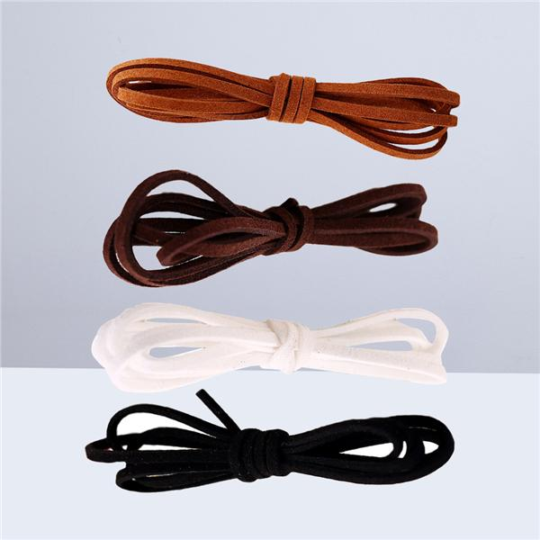 3mm 95 yards Faux Suede Leather Cord Lace String Thread Flat Velvet
