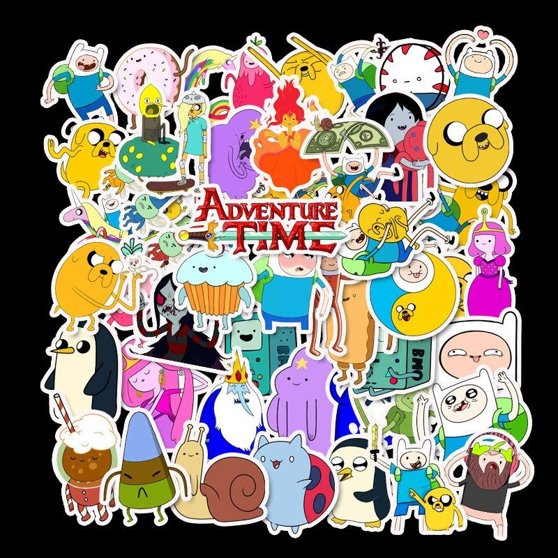 10//30//50pcs Cartoon Adventure Time Children Stickers Skateboard Guitar Suitcase