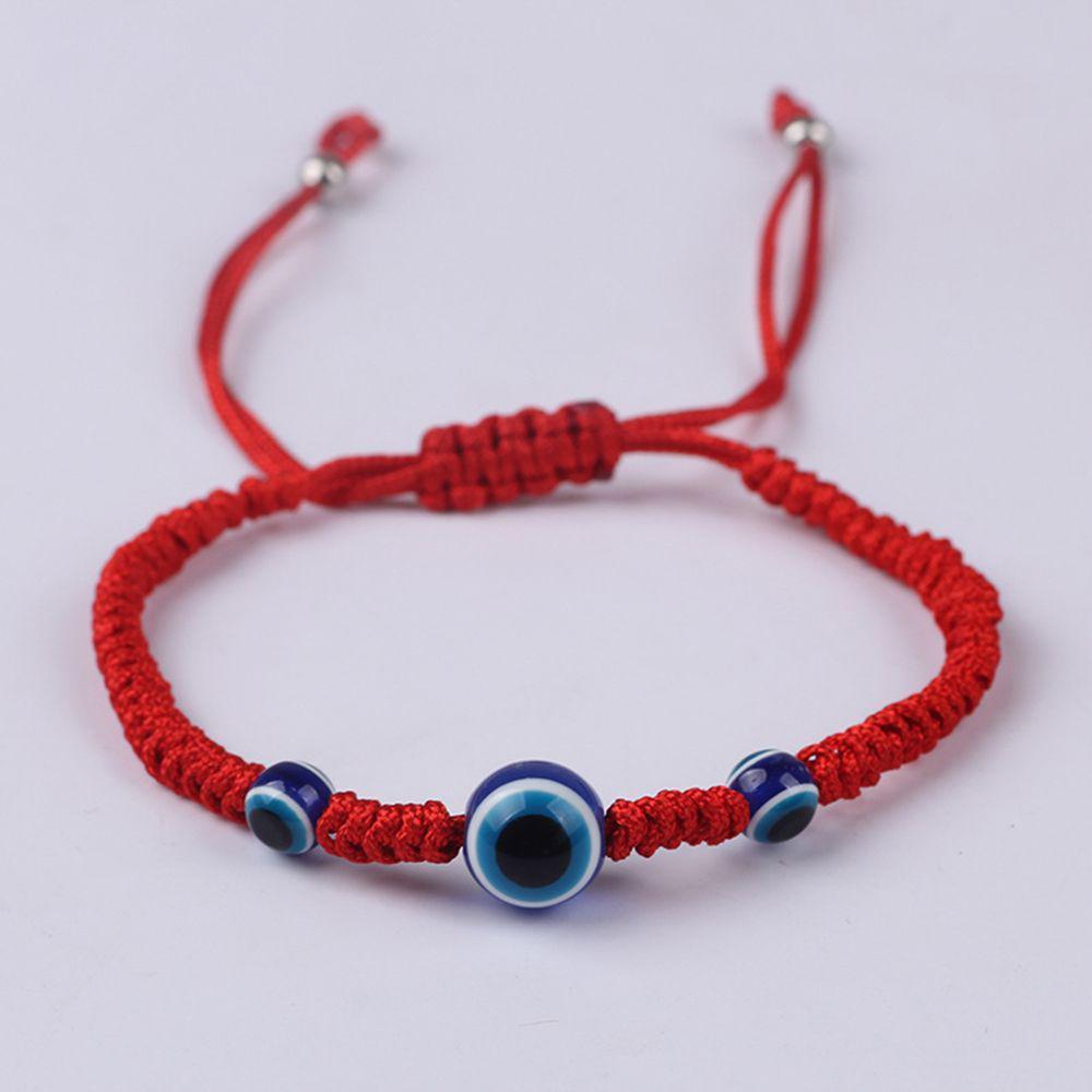 fdb75afe0098 Cuerda roja hilo granos Chakra azul ojo regalo parejas suerte ...
