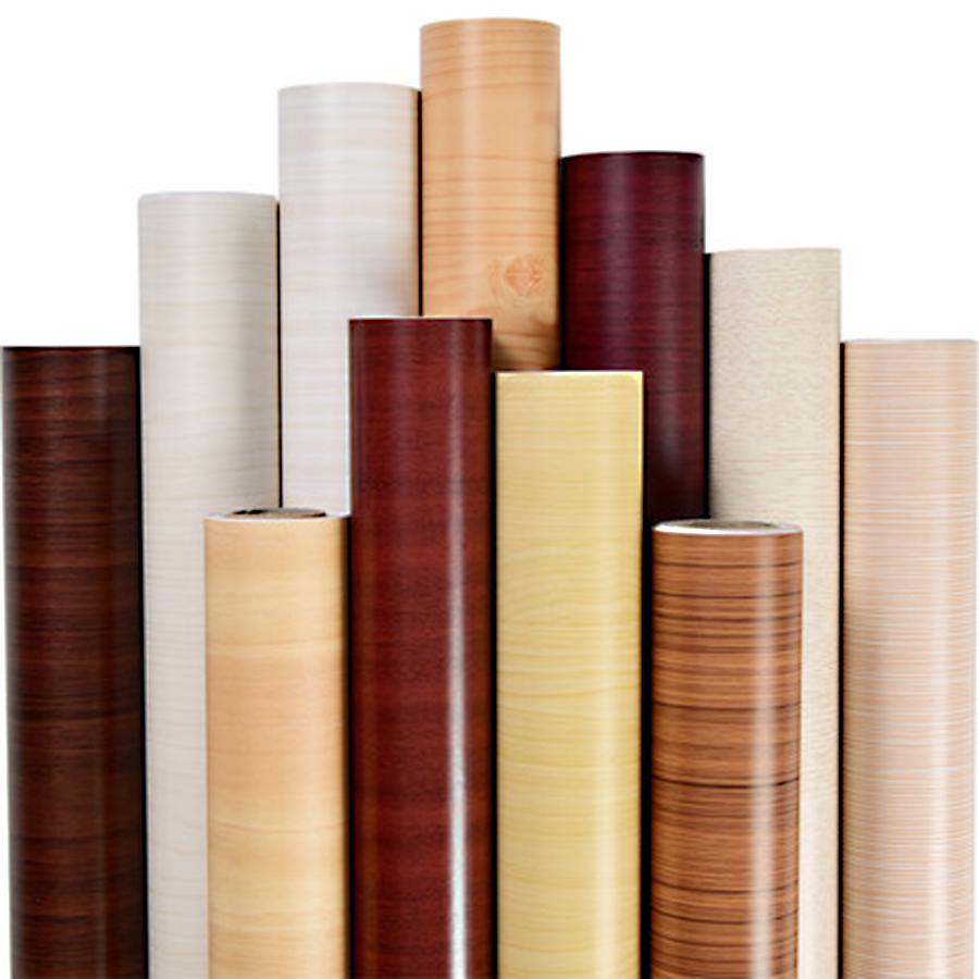 Wall Sticker Vinyl Self-adhesive Wood Grain Furniture Floor Door Sticker Cover