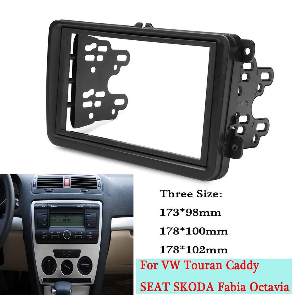 Car Double Din Frame Fascia Panel For Vw Touran Caddy Seat Skoda Fabia Octavia Buy At A Low Prices On Joom E Commerce Platform