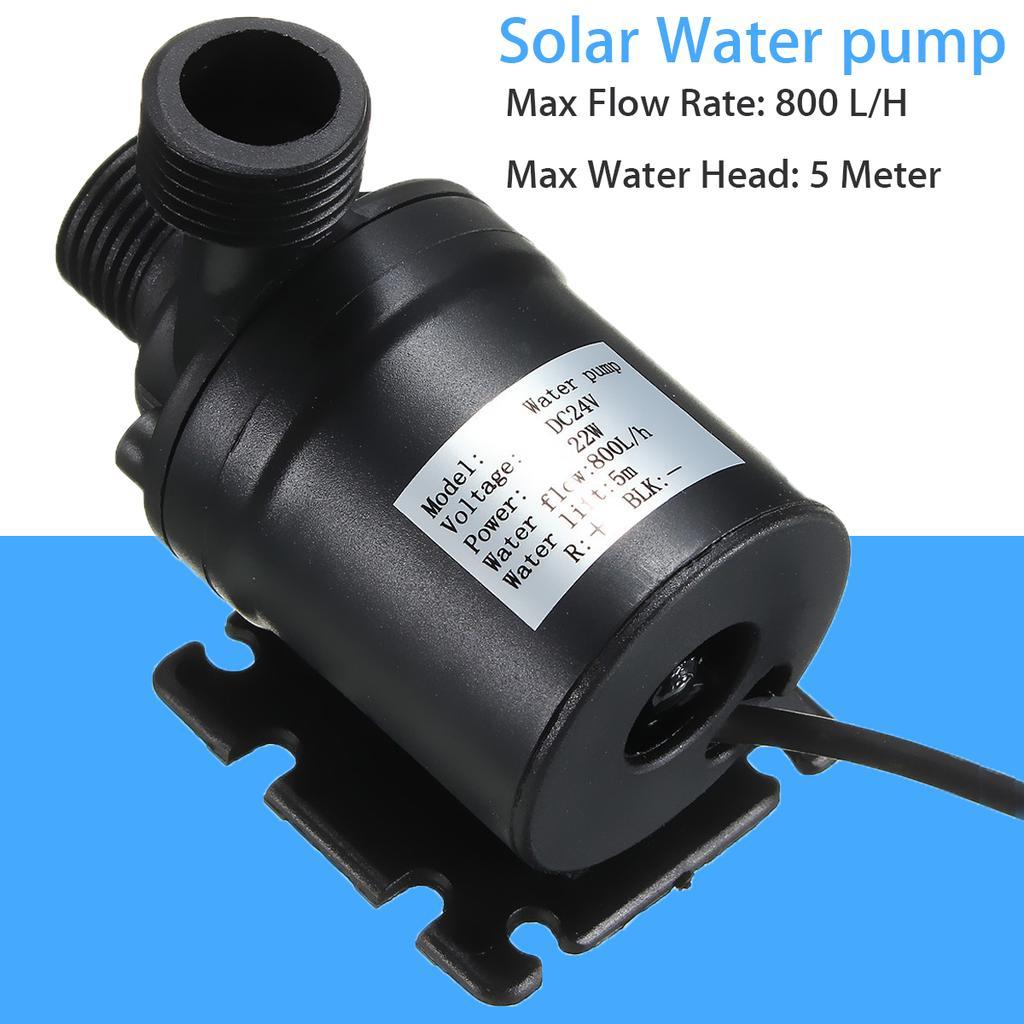 800L/H 5m DC 12V 24V Солнечная щетка Мотор Циркуляция воды насос погруженные насосы воды – купить по низким ценам в интернет-магазине Joom