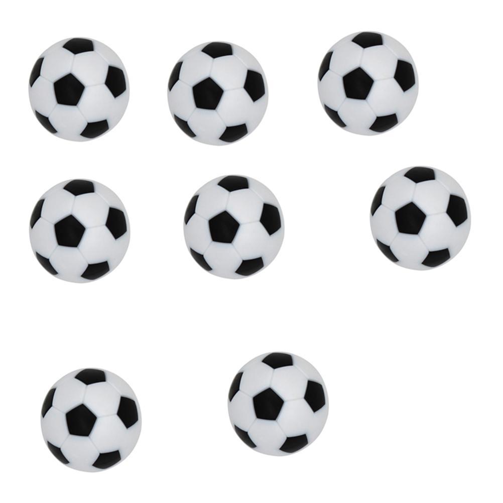 8pcs Tisch Fußball Bälle Fußball Spiel Foosballs Harz Tischplatte Fußball schwarz und weiß Bälle